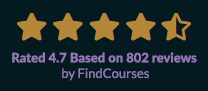 Rated 4.7 on FindCourses